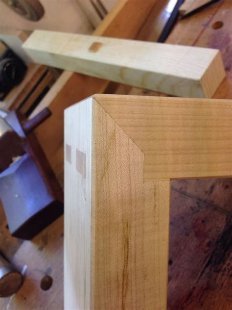 nice mitered double mortise  tenon corner woodworking