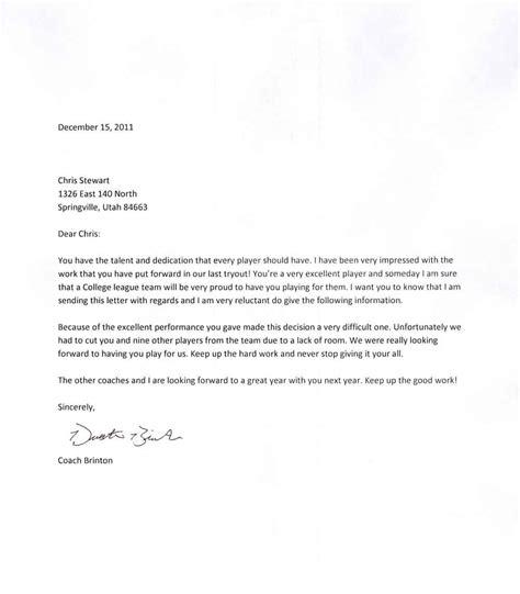 bad news business letter  letters  sample