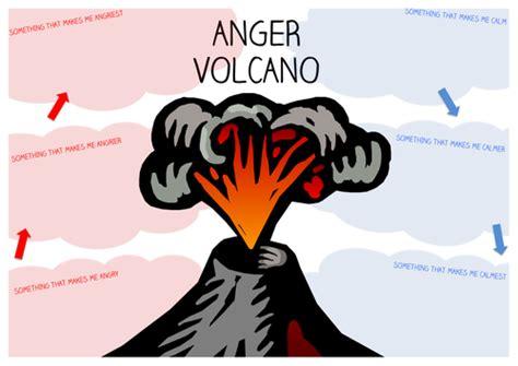 anger volcano worksheet by starfish1954 teaching