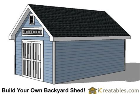12x20 Storage Shed Plans by 12x20 Traditional Backyard Shed Plans
