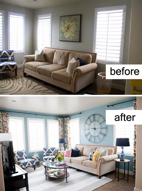 Living Room Paint Makeovers by Awesome Before And After Living Room Makeovers Noted List