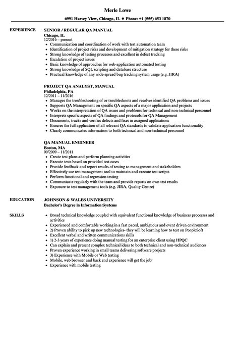 manual qa resume sles velvet