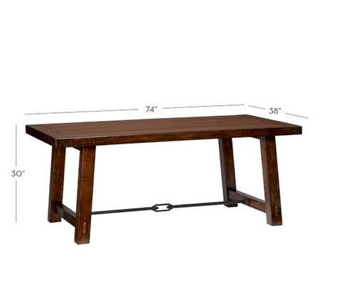 pottery barn table ls benchwright fixed dining table pottery barn