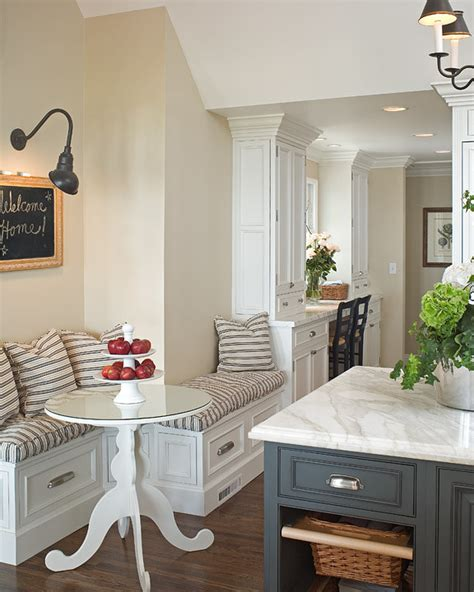 built in kitchen islands built in banquette transitional kitchen curtis and