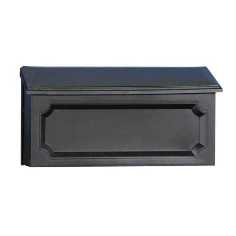 gibraltar mailboxes wall mount mailbox windsor black