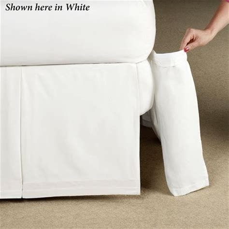 Box Pleat Bed Skirt by Delaney Detachable Pleated Bedskirt