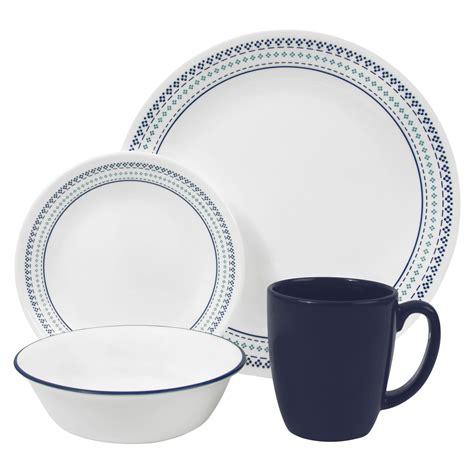corelle dinnerware livingware target piece stitch 16pc folk bandhani plates dorm cooking brand room sets upc stoneware urban auto tools