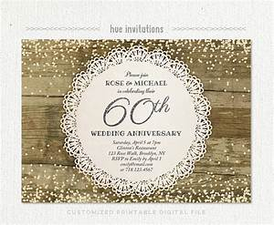 60th wedding anniversary invitation diamond glitter silver With free printable 60th wedding anniversary invitations