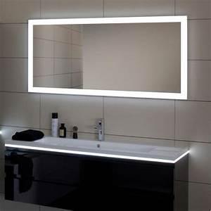 miroir salle de bain led luz sanijura 100 cm With miroir rotatif salle de bain