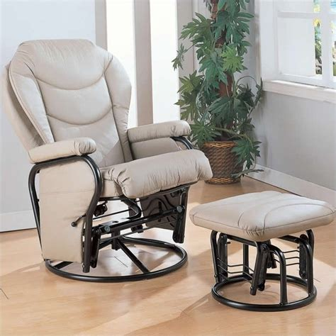 leather glider recliner with coaster faux leather recliner glider chair with ottoman in
