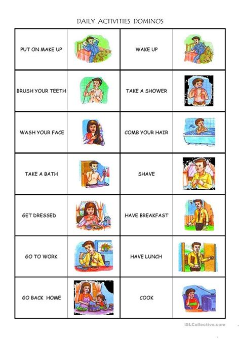 daily activities worksheets