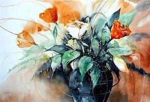 Aquarell Blumen Malen : blumen heinz schweizer malen in 2019 aquarell blumen aquarell und blumen ~ Frokenaadalensverden.com Haus und Dekorationen