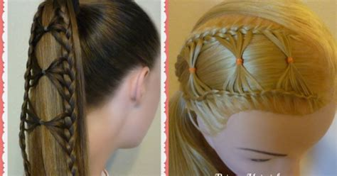 2 Adorable Hairstyles Using The Bow Tie Braid Hairstyles