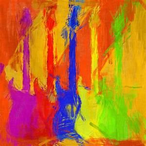 Abstract Guitars Digital Art by David G Paul