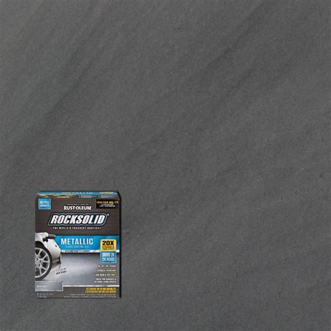 Rust Oleum RockSolid 70 oz. Metallic Silver Bullet Garage