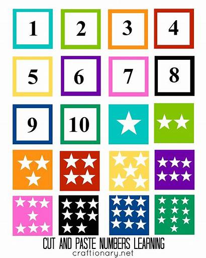 Matching Printable Number Cut Paste Activity Numbers