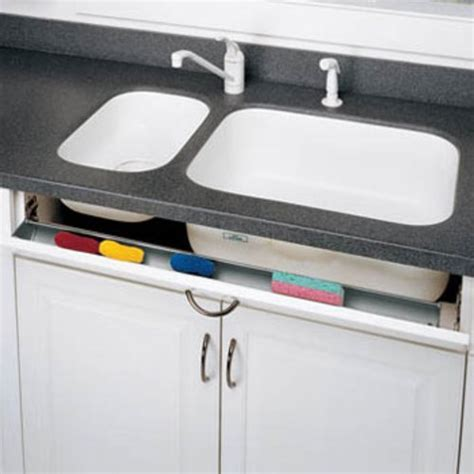 kitchen sink storage trays rev a shelf 6551 series tip out tray 72 inch white 6571 72 5970