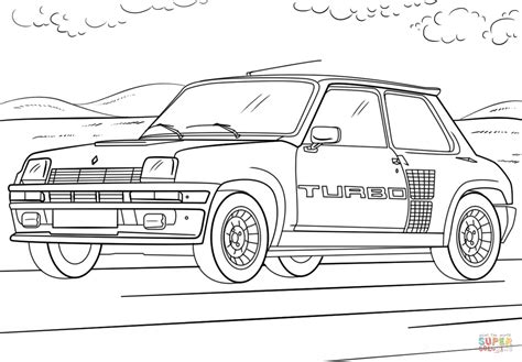 Turbo Kleurplaat by Renault 5 Turbo Coloring Page Free Printable Coloring Pages
