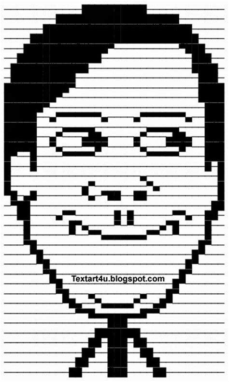 Ascii Memes - creepy tobey maguire meme face ascii text art cool ascii text art 4 u