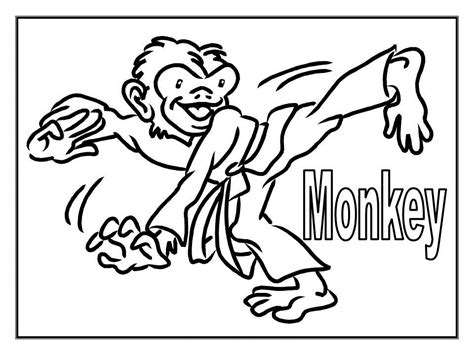Monkey Coloring Pages Free For Kids