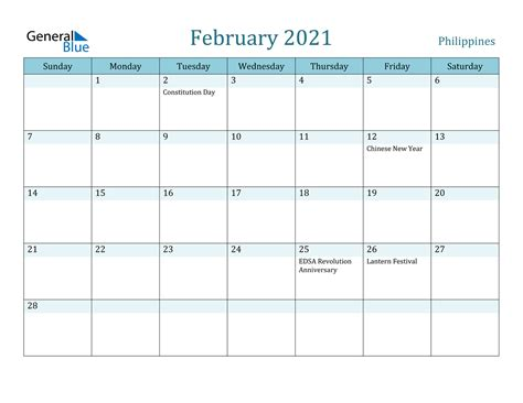 Maha sud pancham vasant panchmi. February 2021 Calendar - Philippines