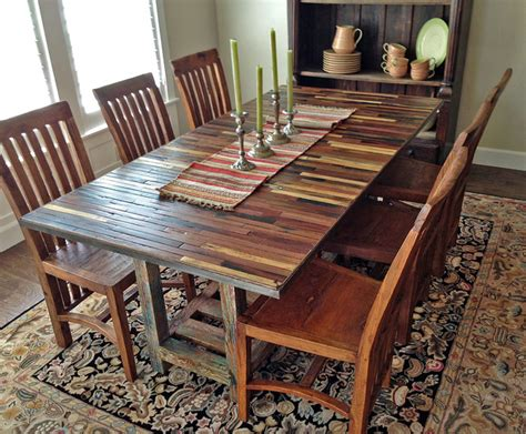 salvaged reclaimed boat wood dining table custom