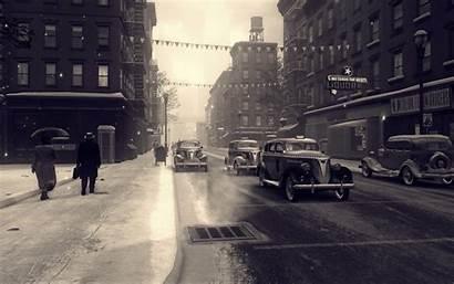 Mafia Cars Street Snow Rain Wallpapers Games