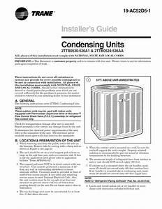Trane Air Conditioner  Heat Pump Outside Unit  Manual L0903229