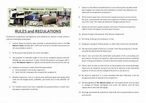 rules and regulation for rent a room With rental house rules template