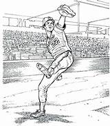 Baseball Field Coloring Pages Printable Getcolorings Adults sketch template
