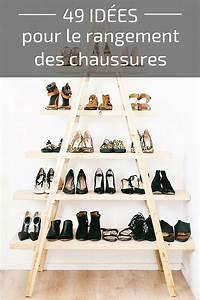 Rangement Chaussures Original : idee rangement chaussures dans placard ~ Teatrodelosmanantiales.com Idées de Décoration