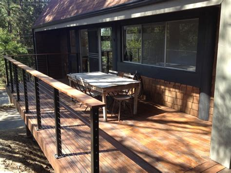wrap around deck with cable railings