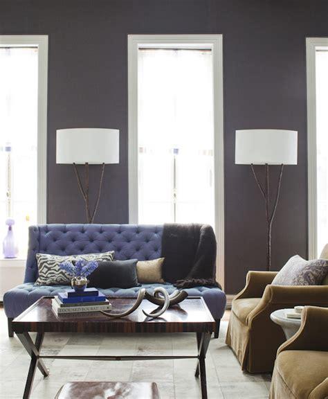 grey and purple living room paint purple sofa transitional living room amanda nisbet