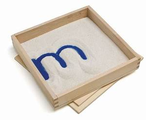 letter formation sand tray with lid eo montessori With letter formation sand tray