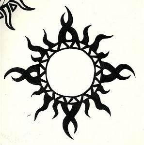 46 Most Amazing Tribal Sun Tattoo Designs & Patterns