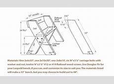 Aldo Leopold Garden Bench Plans, Free King Size Mission