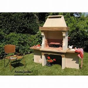 barbecue en pierre hacienda pas cher charbon de bois With barbecue de jardin en pierre