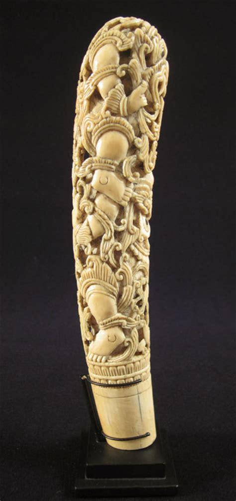 asian tribal art ivory sword hilt burma