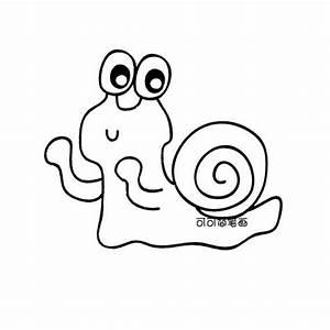 可爱蜗牛简笔画 可可简笔画