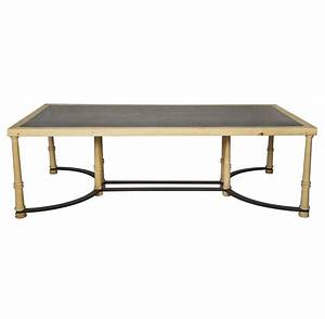 giles industrial loft slate stone wood coffee table With wood and slate coffee table