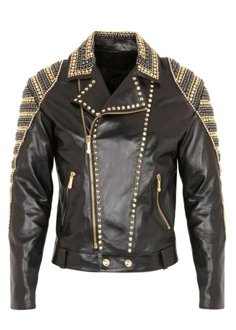 Leather Jacket With Spikes For Men Designer Jackets