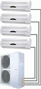 48000 Btu Quad Zone Ductless Split Air Conditioner Heat