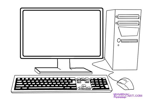 you are special plate how to draw a computer tower keyboard screen mouse