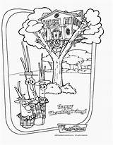Coloring Pages Treehouse Veggie Tales Veggietales Blueberry Madame Activities Thanksgiving Rainbow Happy Crafts Graphic Sunday Cricket Veggies Cartoons Coloringpages Wall sketch template