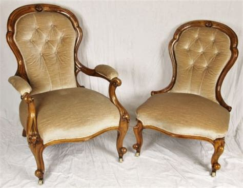 pair of his and hers showood chairs 206126