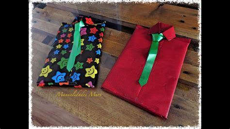 manualidades envolver regalos en forma de camisa con corbata dial del padre youtube