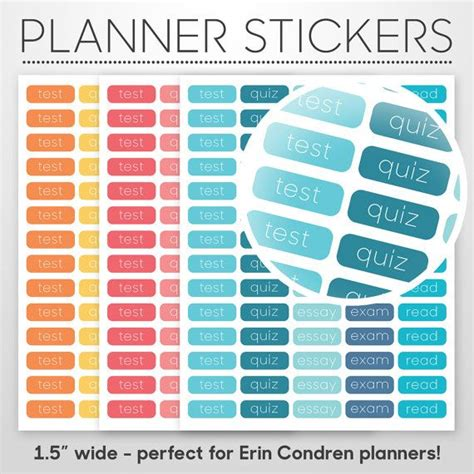 planners for college students student planner academic stickers diy printable pdf