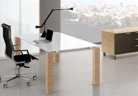 plateau de bureau bureau plateau en verre blanc