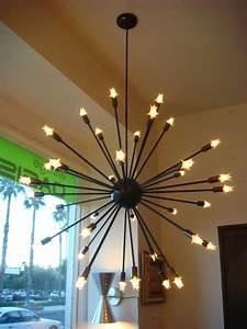Oil Rubbed Bronze Sputnik Starburst Light Fixture