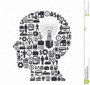 Elements Are Small Icons Finance Make In Man Think Royalty Free Stock Photography